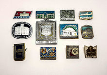 Load image into Gallery viewer, Soviet Vintage Enamel Pins | Enamel Lapel Pins | Set 4 - Vintage Radar