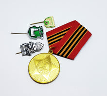 Load image into Gallery viewer, Set of Soviet Vintage Enamel Pins and Vintage Medal | Set 1 - Vintage Radar