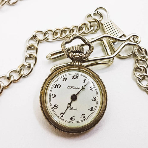 Silver Pocket Watch | J. Fresard Paris Little Pocket Watch - Vintage Radar