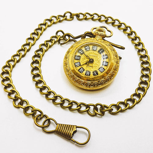 Golden Normandia Pocket Watch | Little Vintage Pocket Watch - Vintage Radar