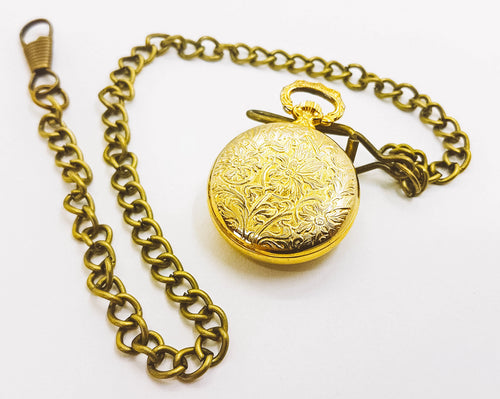 Gold-tone Kerfran Pocket Watch | Little Vintage Pocket Watch - Vintage Radar