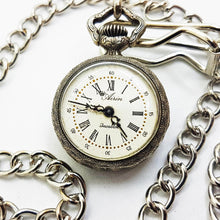 Load image into Gallery viewer, Airin Incabloc Vintage Silver Pocket Watch | French Pocket Watches - Vintage Radar