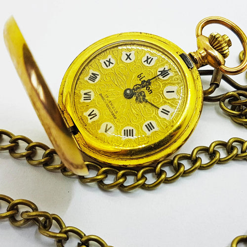 17 Jewels Blazon Vintage Pocket Watch | Engraving Option - Vintage Radar