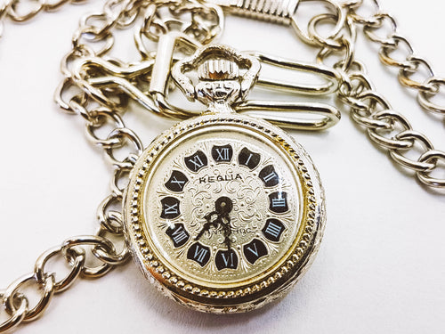 Reglia Vintage Silver Pocket Watch - Vintage Radar