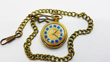 Load image into Gallery viewer, Pax Gold-tone Vintage Pocket Watch | Unique Medallion Watches - Vintage Radar