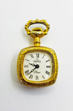 Tiny French Clyda Pocket Watch | 90s Clyda Paris Pocket Watch Medallion - Vintage Radar