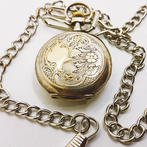 Classic Silver Vintage Pocket Watch | Medallion Watch Collection - Vintage Radar