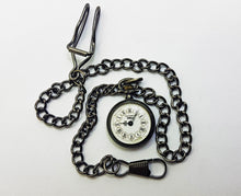 Load image into Gallery viewer, Black Rotary Vintage Pocket Watch | Swiss Pocket Watch - Vintage Radar
