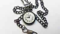 Black Rotary Vintage Pocket Watch | Swiss Pocket Watch - Vintage Radar