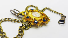 Load image into Gallery viewer, Maty Gold Floral Pocket Watch | Medalion Watch - Vintage Radar