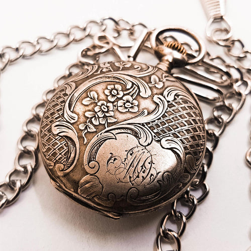 Silver-tone French Vintage Pocket Watch | French Collection - Vintage Radar