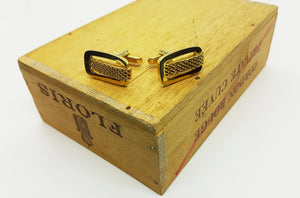 Vintage Set of Golden Cufflinks, Tie Clip and Lapel Pin | Wedding Wear - Vintage Radar