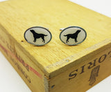Vintage Silver Cufflinks for Dog Lovers | Wedding Wear - Vintage Radar