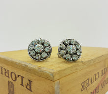Load image into Gallery viewer, Occasion Wear Round Sparkling Silver-Tone Cufflinks - Vintage Radar