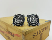 Load image into Gallery viewer, Silver-tone Vintage Cufflinks and Tie Clip Victorian Style | Wedding Wear - Vintage Radar
