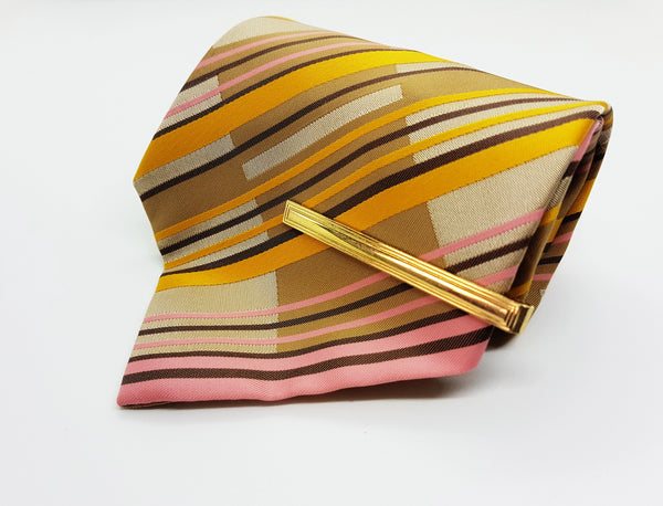 Juwel Yellow Striped Vintage Tie | Wedding Collection - Vintage Radar