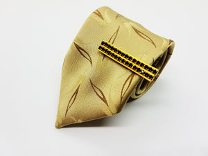 Elegant Satin Juwel Vintage Tie & Tie Clip | Wedding Collection - Vintage Radar