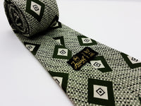 Juwel Vintage Green Tie & Tie Clip | Wedding Collection - Vintage Radar