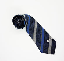 Load image into Gallery viewer, Italian Designer Vintage Tie & Tie Clip | Emilio Vincenti Tie | Wedding Collection - Vintage Radar