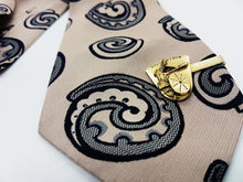 Load image into Gallery viewer, Gentlemen Vintage Tie & Tie Clip | Trevira Elegant Tie | Wedding Collection - Vintage Radar