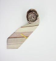 St. Michael Bohemian Vintage Tie & Tie Clip | Wedding Collection - Vintage Radar