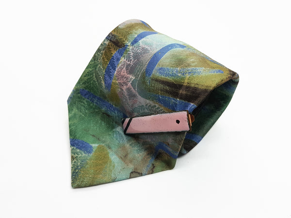 Derby Hippie Vintage Tie & Tie Clip | Wedding Collection - Vintage Radar