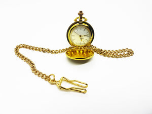 Tiny Vintage Gold-tone Pocket Watch | Can Be Engraved Upon Request - Vintage Radar