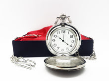 Load image into Gallery viewer, Aviator Style Silver Pocket Watch Vintage | Can Be Engraved Upon Request - Vintage Radar