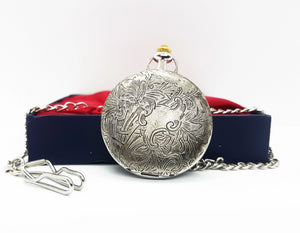 Vintage Bohemian Silver Pocket Watch | Can Be Engraved Upon Request - Vintage Radar