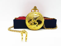 Gold Eagle Pocket Watch Vintage | Can Be Engraved Upon Request - Vintage Radar