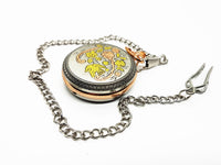 Stunning Rose Gold and Silver Pocket Watch Vintage | Can Be Engraved Upon Request - Vintage Radar