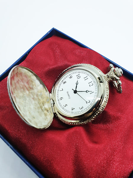 Elegant Silver-Tone Pocket Watch | Can Be Engraved Upon Request - Vintage Radar