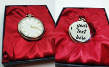 Load image into Gallery viewer, Fugit Tempus Silver Pocket Watch Vintage | Can Be Engraved Upon Request - Vintage Radar