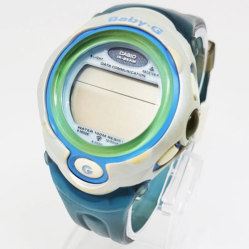 Unique Green and Blue Casio Baby-G Gift Watch For Men - Vintage Radar