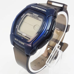 Blue Alarm Chronograph Casio Illuminator Vintage Casio For Men, Antique Sportswatch - Vintage Radar