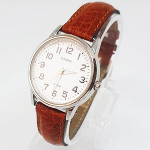 Brown Faux Leather Vintage Casio Watch, Antique Wristwatch - Vintage Radar