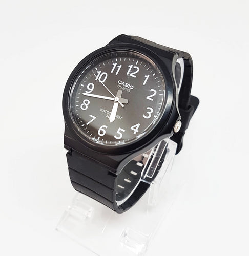 Classy All Black Vintage Casio Gift Watch For Men, Retro Wristwatch - Vintage Radar