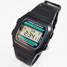 Load image into Gallery viewer, W-86-1VQES Black and Blue Antique Vintage Casio Watch - Vintage Radar