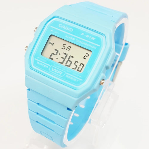Vintage Casio watch, F-91 Blue Casio Watch, Digital Wristwatch - Vintage Radar
