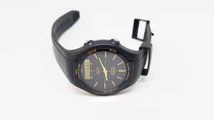 AW-90H-9EVEF Elegant All Black Casio Gift Watch For Men - Vintage Radar
