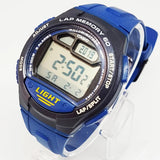 Vintage Blue Casio Watch for Men | Casio Sportswatch with Lap Memory - Vintage Radar