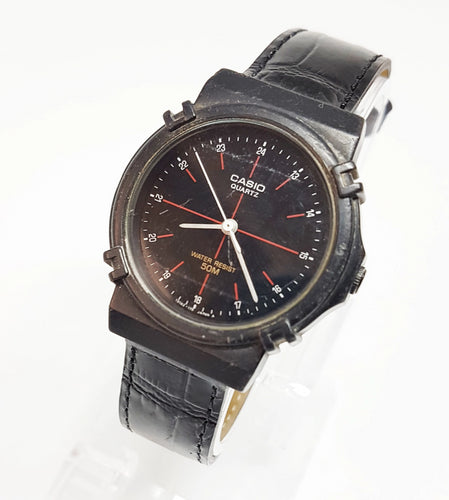 Elegant Black and Red Casio Gift Watch For Men, Antique wristwatch - Vintage Radar