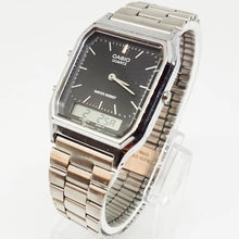 Load image into Gallery viewer, Silver-tone Casio Quartz Watch | Double Digital and Analog Display - Vintage Radar