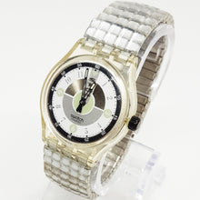 Load image into Gallery viewer, Rare Hipster Silver and Black Vintage Swatch Watch - Vintage Radar