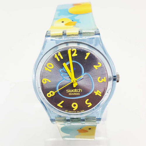 2003 Standard Ducky Bath GN214 Vintage Swatch | Baby Shower Swatch Watch - Vintage Radar