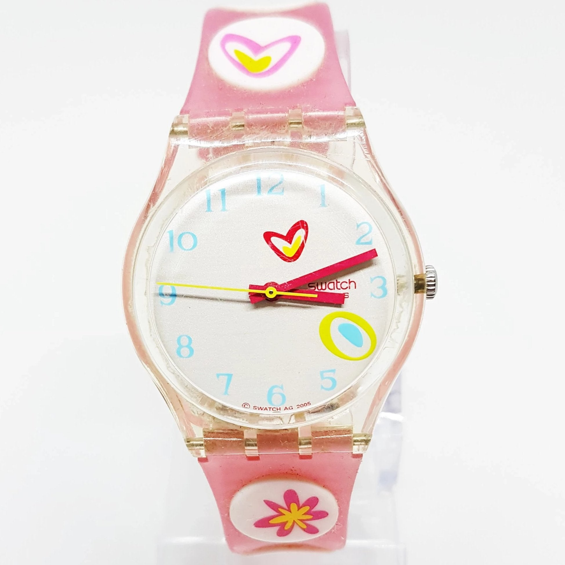 2005 Pink Candy Ge177 Swatch Watch Vintage Swatch Watch