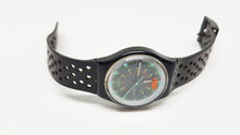 Load image into Gallery viewer, Black 1992 Vintage Swatch Watch Original BATTICUORE GB724 - Vintage Radar