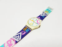 1990 Tutti GW700 Vintage Swatch Watch, Colorful Timepiece - Vintage Radar