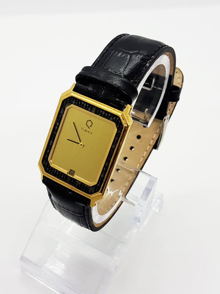 Square Dial Gold-tone Timex Watch Vintage - Vintage Radar