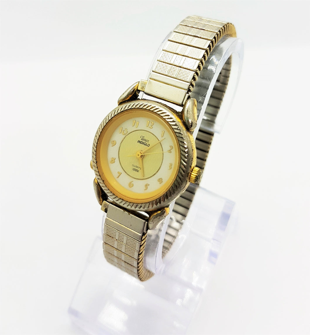 Two-Tone Gold And Silver Timex Watch, Vintage Gift For Ladies - Vintage Radar
